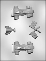 "3-5/8"" RACE CAR CHOCOLATE CANDY MOLD"