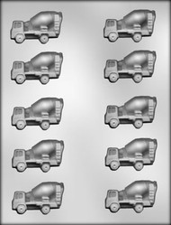 "2-1/8"" CEMENT MIXER CHOCOLATE CANDY MOLD"