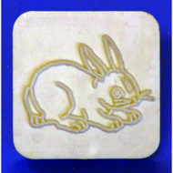 "Plastic Embosser--Bunny--1-1/2"" x 1-1/2"" Outer Plastic Square"