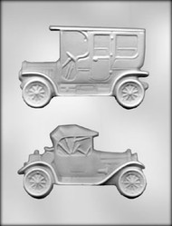 "5-5/8"" ANTIQUE CAR ASSTMT CHOCOLATE CANDY MOLD"
