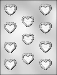 "1-1/2"" FILIGREE HEART CHOCOLATE CANDY MOLD"