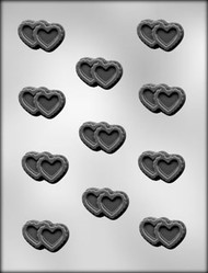 "1-3/4"" DOUBLE FILIGREE HEART CHOCOLATE CANDY MOLD"