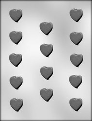 "1-1/8"" PLAIN HEART CHOCOLATE CANDY MOLD"