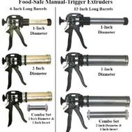 Fondant Extruders--Food-Safe Barrels--Manual Trigger--Choose Size/Style