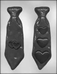 "8-1/8"" TIES W/HEARTS CHOCOLATE CANDY MOLD"