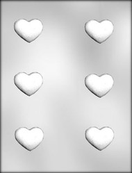 "1-3/4"" TRUFFLE HEART CHOCOLATE CANDY MOLD"
