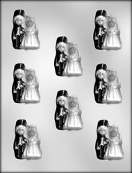 "2-1/4"" BRIDE/GROOM CHOCOLATE CANDY MOLD"