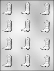 "1-5/8"" COWBOY BOOT CHOCOLATE CANDY MOLD"