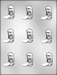 """1-5/8"""" COWBOY BOOT CHOCOLATE CANDY MOLD."""