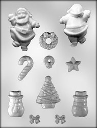 """7/8-2 7/8"""" Christmas Accessories Chocolate-Candy Mold"""