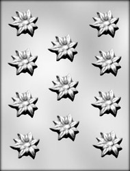 "1-1/2"" POINSETTIA CHOCOLATE CANDY MOLD"
