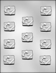 "1-3/8"" x 1-1/8"" GIFT PACKAGE CHOCOLATE CANDY MOLD"