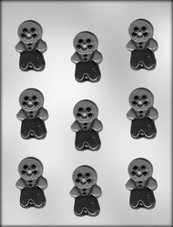 "2"" GINGERBREAD BOYS CHOCOLATE CANDY MOLD"