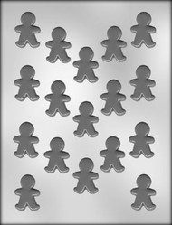 "1-1/2"" GINGERBREAD BOY CHOCOLATE CANDY MOLD"