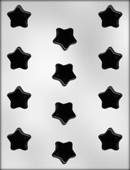 "1-1/4"" FLAT STAR CHOCOLATE CANDY MOLD"