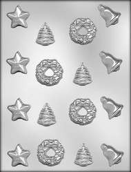 "1-3/16"" - 1-5/16"" CHRISTMAS ASSORT CHOCOLATE CANDY MOLD"