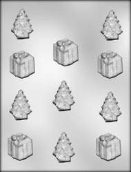"1-5/8"" - 1-3/4"" PACKAGE/TREE CHOCOLATE CANDY MOLD"