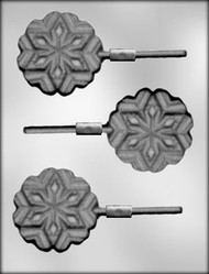 "3"" SNOWFLAKE SUCKER CHOCOLATE CANDY MOLD"