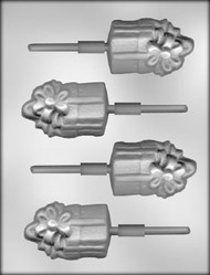 "3"" GIFT SUCKER CHOCOLATE CANDY MOLD"