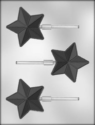 "3"" STAR W/LINES SUCKER CHOCOLATE CANDY MOLD"