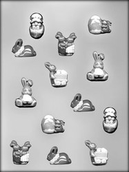 "1-5/8"" - 1-3/4"" EASTER ASSORTMENT CHOCOLATE CANDY MOLD"