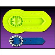 Oval Bejeweled Buckle--Marvelous Molds Silicone Mold