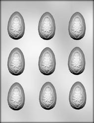 "2"" 3D FLORAL EGG CHOCOLATE CANDY MOLD"
