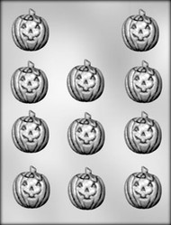 "1-1/2"" JACK O LANTERN CHOCOLATE CANDY MOLD"
