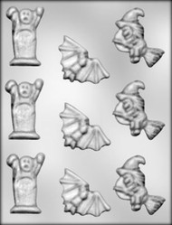 "2-1/2"" HALLOWEEN ASSTMT CHOCOLATE CANDY MOLD"