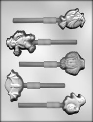 "1-3/4"" - 2-3/4"" HALLOWEEN ASST SUCKER CHOCOLATE CANDY MOLD"
