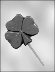 "4"" SHAMROCK SUCKER CHOCOLATE CANDY MOLD"