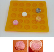 "1"" ROSE YELLOW FLEXIBLE MOLD"