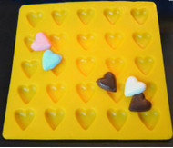 "1"" HEARTS YELLOW FLEXIBLE MOLD"