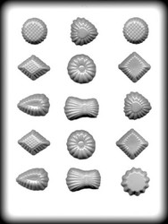 "1-1/2"" - 1-5/8"" FANCY PIECES HARD CANDY MOLD"
