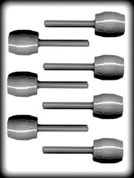 "2 5/8"" BARREL SUCKER HARD CANDY MOLD"