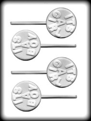 "2-5/8"" ITS A BOY/GIRL SUCKER HARD CANDY MOLD"