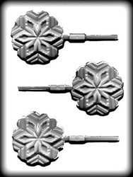 "3"" SNOWFLAKE SUCKER HARD CANDY MOLD"