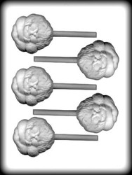 "2-1/2"" SANTA FACE SUCKER HARD CANDY MOLD"