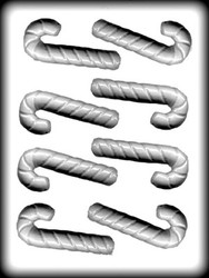 """3-3/4"""" 3-D CANDY CANE HARD CANDY MOLD"""