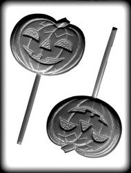 "4-1/4"" JACK O LANTERN SUCKER HARD CANDY MOLD"