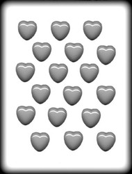 "1 1/8"" SMOOTH HEART HARD CANDY MOLD"