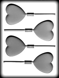 "1-5/8"" LG HEART SUCKER HARD CANDY MOLD"
