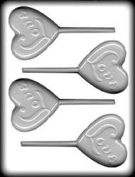 2 3/4 HEART/LOVE SKR HARD CANDY MOLD