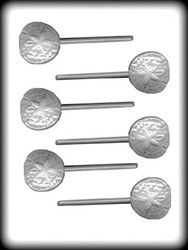"1-3/4"" SAND DOLLAR SUCKER HARD CANDY MOLD"