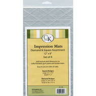 Impression Mat Assortment--Diamond & Square --Quilting Mats