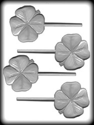 "2-3/4"" 4-LEAF CLOVER SUCKER HARD CANDY MOLD"