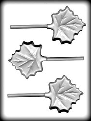 "3"" MAPLE LEAF SUCKER HARD CANDY MOLD"