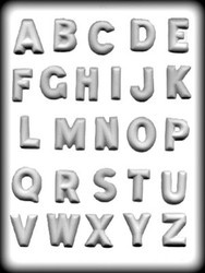 "1 1/4"" ALPHABET HARD CANDY MOLD"