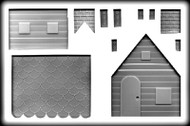 """6"""" X 5"""" X 7"""" 3D GINGERBREAD HOUSE HARD CANDY MOLD"""