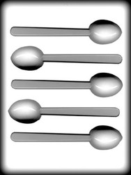 "1 7/8"" MOCHA SPOON HARD CANDY MOLD"
